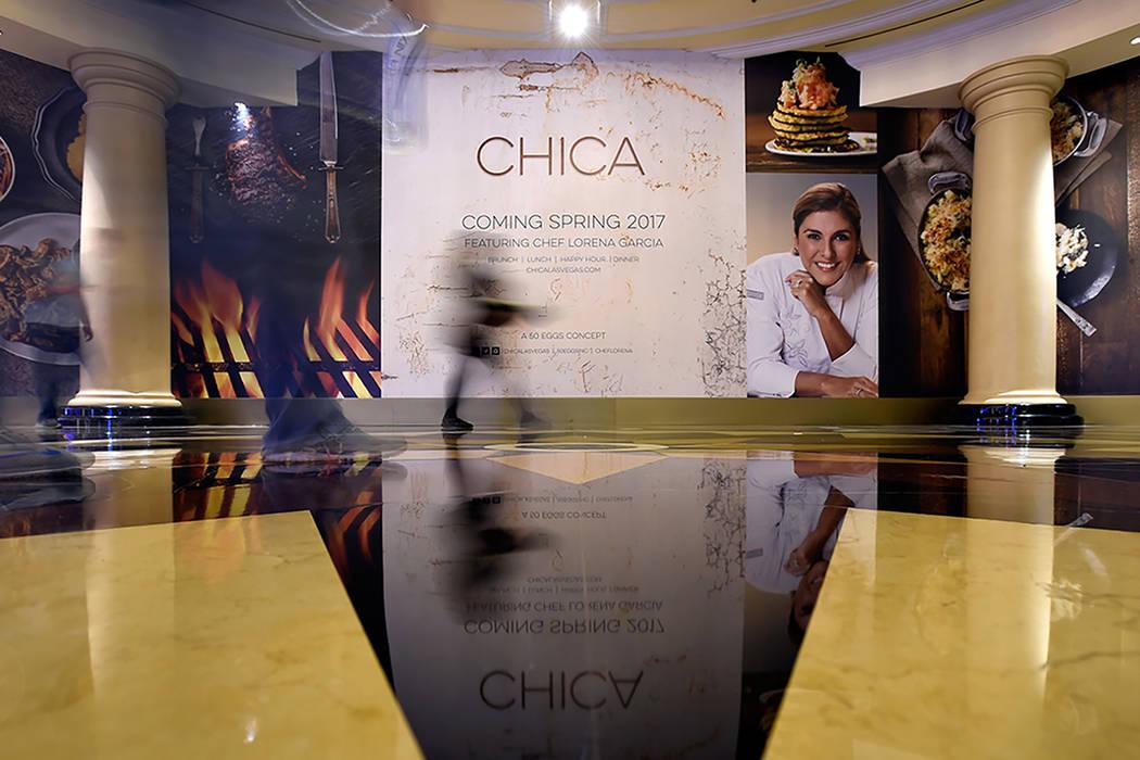 La futura ubicación del nuevo restaurante del chef Lorena García, Chica, se ve en Las Vegas venecianas el miércoles, 15 de febrero de 2017, en Las Vegas.   David Becker/Las Vegas News Bureau