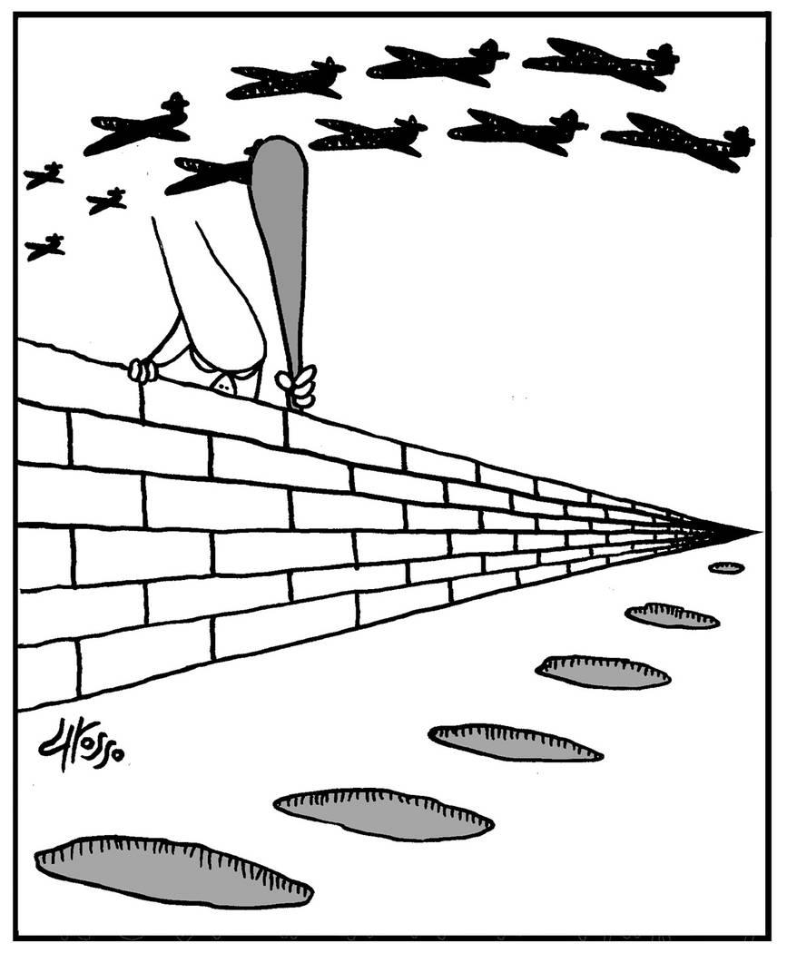 Por donde entran los  inmigrantes. | Ilustración por Grosso
