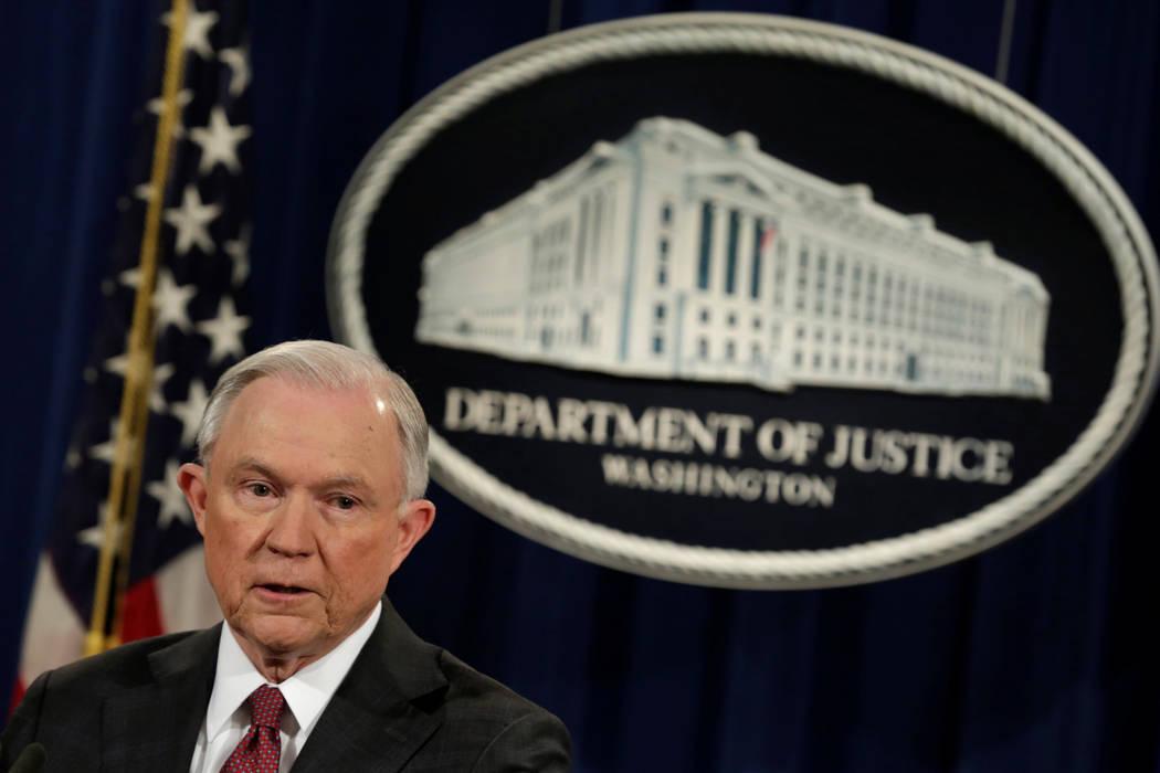 Abogado General de Justicia de la Nación, Jeff Sessions. (Archivo/REUTERS/Yuri Gripas).