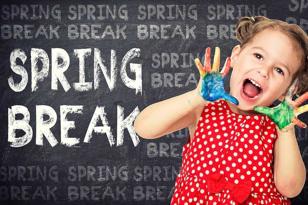 """Como recordatorio a los padres las vacaciones de """"Spring Break"""" en CCSD están programadas del 10 al 14 de abril. No habrá escuela durante esa semana."""