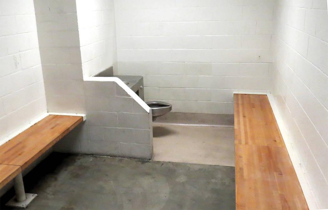 El Centro de Detención del Condado de Clark cuenta con distintos tipos de celda según sea el área, cada una puede tener hasta 30 presos, miércoles 8 de marzo en CCDC.   Foto El Tiempo/Anthony  ...