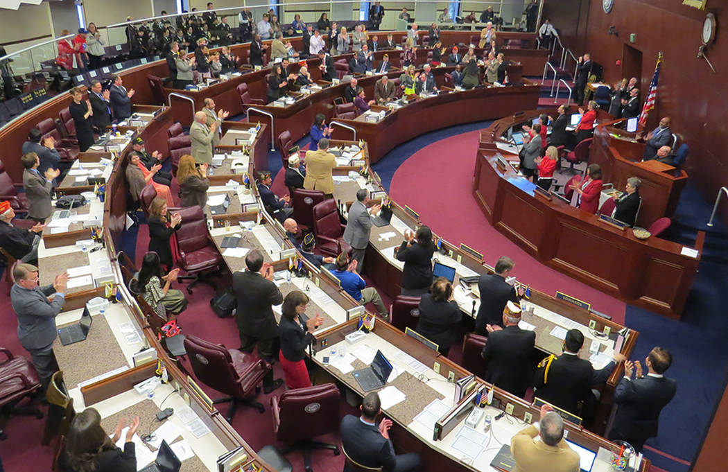 Los miembros de la asamblea continúan analizando y votando propuestas durante la Sesión Legislativa de Nevada. Sexta semana de la Legislatura de Nevada en Carson City.   Foto El Tiempo/Anthony A ...