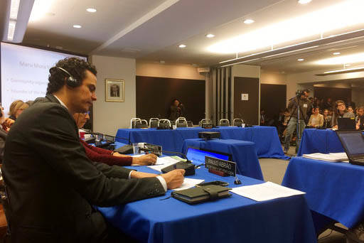 Paulo Abrao, secretario ejecutivo de la Comisión Interamericana de Derechos Humanos (CIDH) atiende una audiencia sobre el impacto de las políticas del presidente Donald Trump en inmigración sob ...
