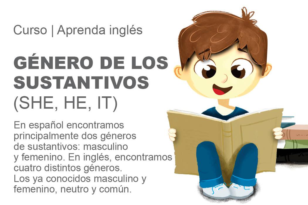 En español encontramos principalmente dos géneros de sustantivos: masculino y femenino. En inglés, encontramos cuatro distintos géneros. Los ya conocidos masculino y femenino, neutro y común.