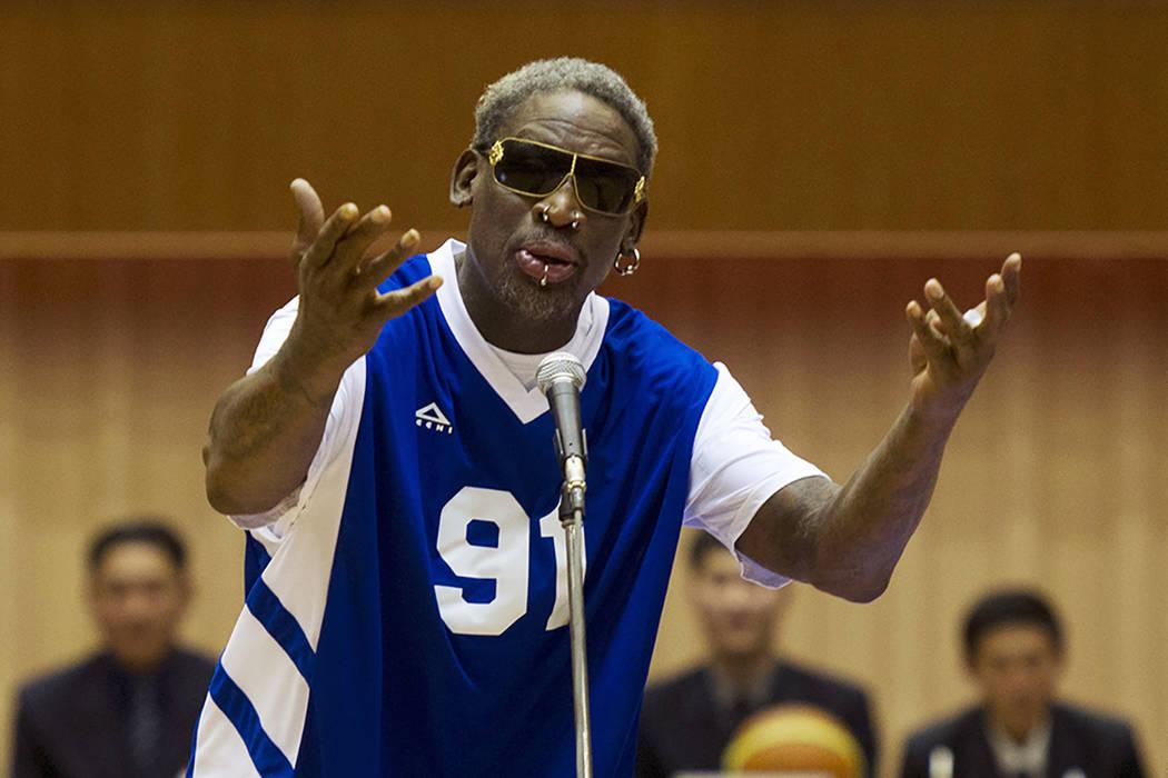 ARCHIVO. Dennis Rodman. Foto AP/Kim Kwang Hyon