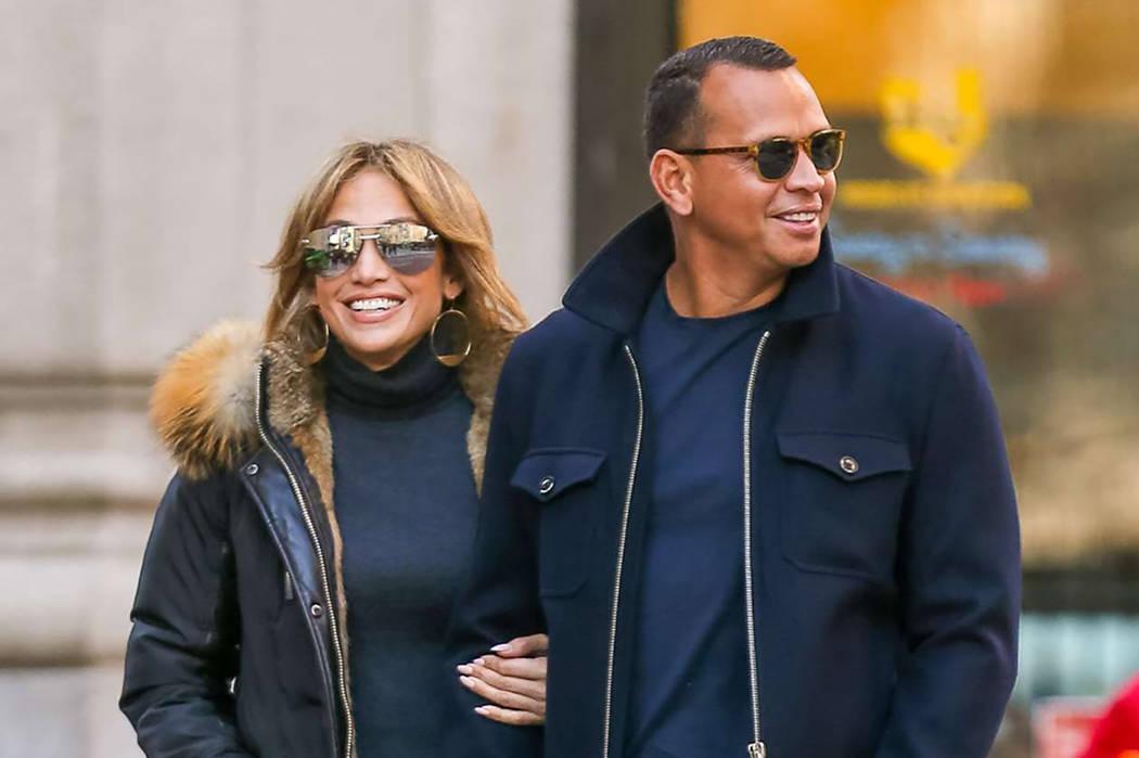 La cantante Jennifer López y el exjugador de béisbol Alex Rodríguez. | Cortesía