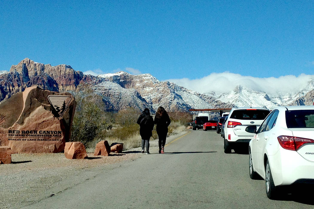 La entrada a Red Rock es congestionada los fines de semana en algunas horas. | Foto El Tiempo/Valdemar González