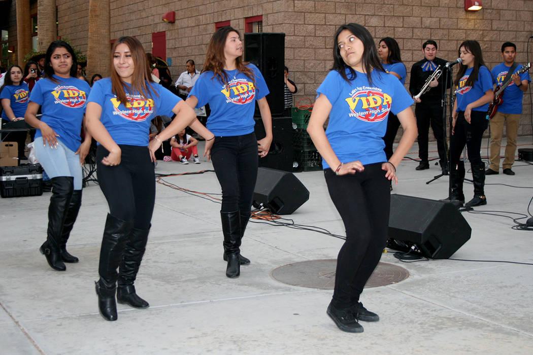 Grupo musical Latin Vida, de Western HS. | Foto El Tiempo/Valdemar González.