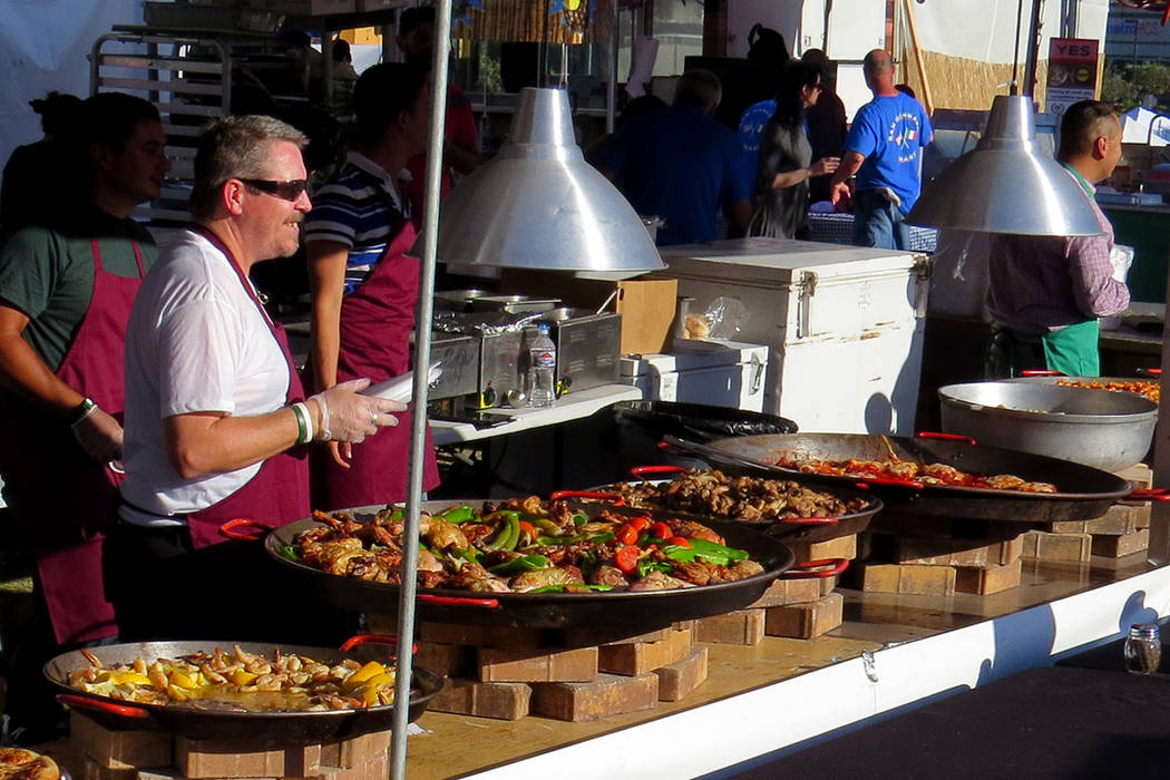 SG 10: Los asistentes se deleitaron con distintos alimentos italianos como la pizza o la pasta. Miércoles 10 de mayo en el parque Craig Ranch. Foto El Tiempo