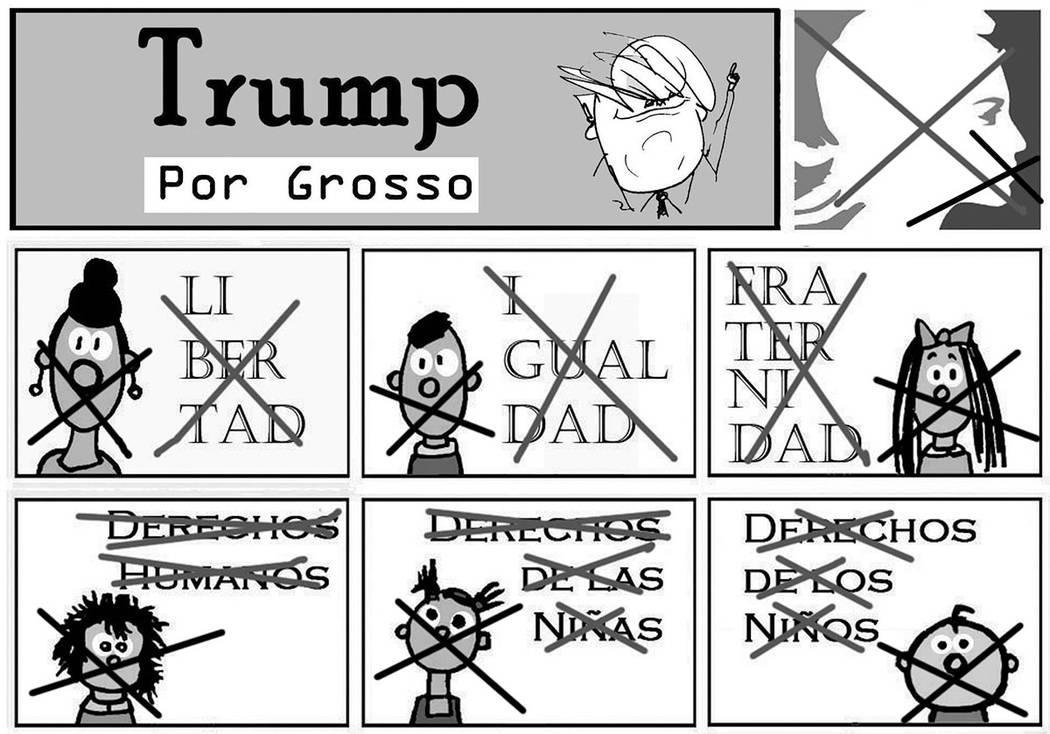 Trump.   Ilustración por Grosso/Especial para El Tiempo