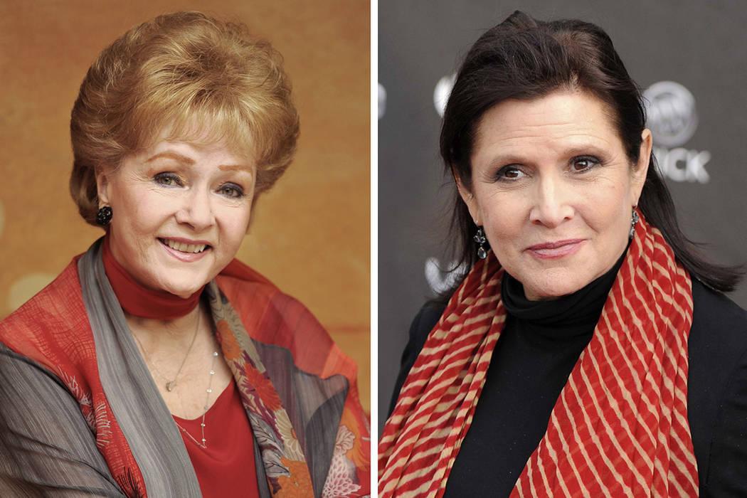 En esta foto de combinación, la actriz Debbie Reynolds, a la izquierda, posa para un retrato en Beverly Hills, California, el 21 de mayo de 2013 y su hija Carrie Fisher aparece en el 2011 NewNowN ...