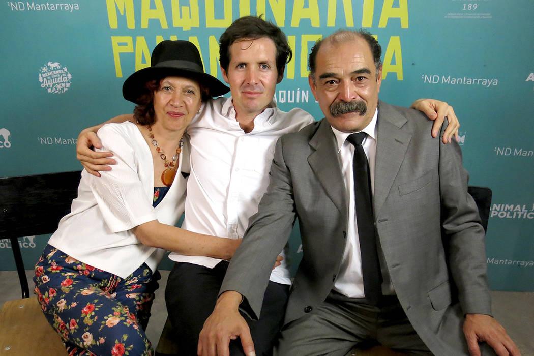 En esta foto del 24 de mayo de 2017, desde la izquierda, la actriz Irene Ramírez, el director Joaquín del Paso y el actor Javier Zaragoza posan para un retrato durante la promoción de su pelíc ...