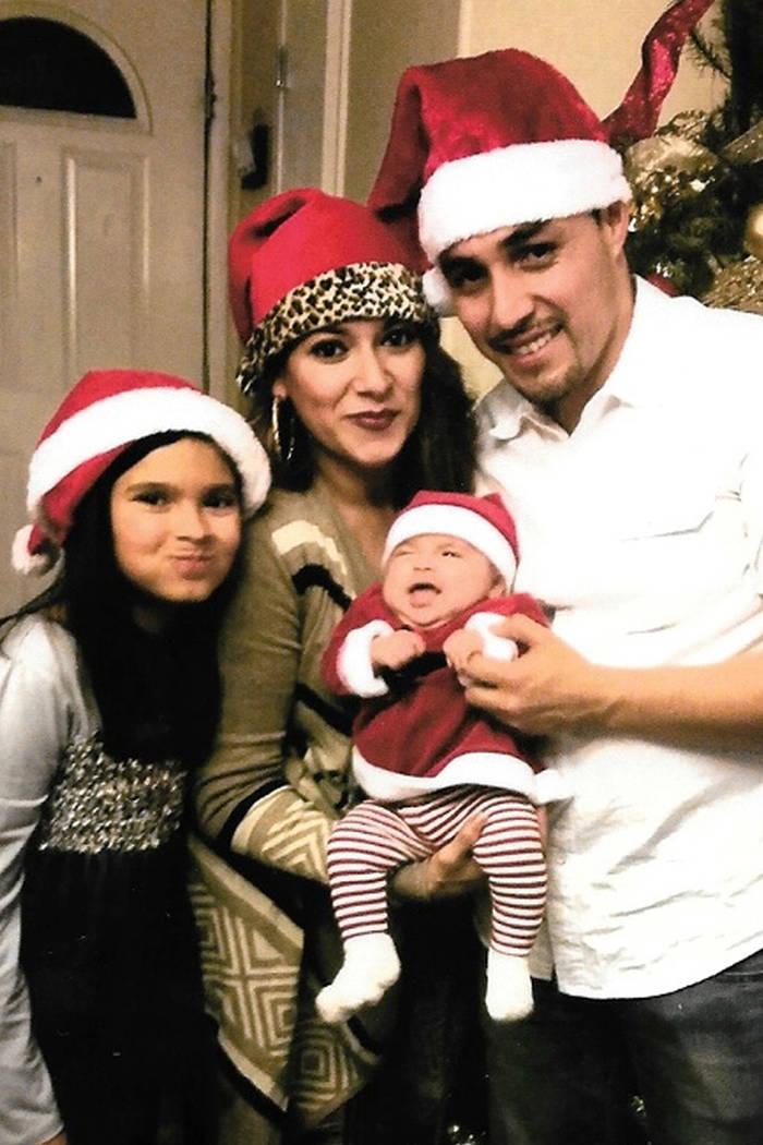 La última navidad que Eddie y Nancy celebraron como familia. Foto Cortesía.