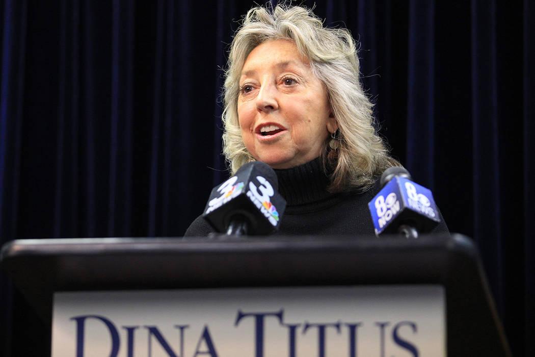Congresista de Nevada Dina Titus. | Brett Le Blanc/Las Vegas Review-Journal.