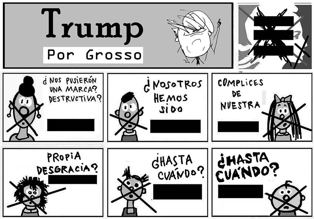 Trump.   Ilustración por Grosso/Especial para El Tiempo.