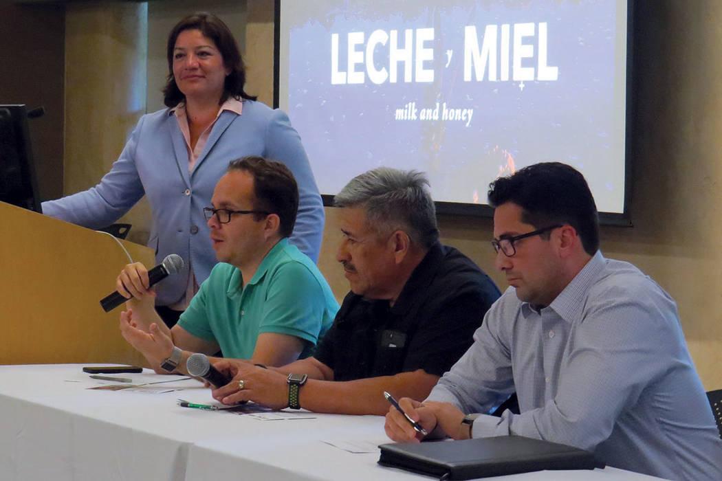 Los panelistas hablaron sobre la importancia de preservar el agua y exhortar a los funcionarios públicos a prestar atención a este tema. Miércoles 28 de junio en Springs Preserve. | Foto Anthon ...