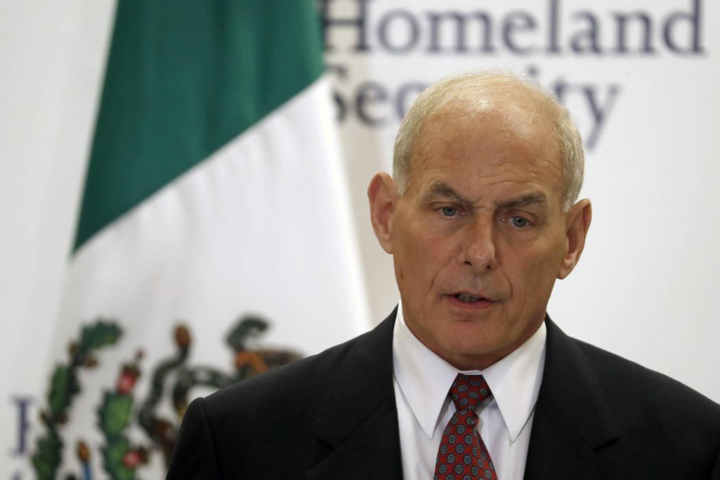 El secretario de Seguridad Interior de Estados Unidos, John Kelly, habló durante una declaración conjunta con el secretario de Interior de México, Miguel Ángel Osorio Chong, no vista en la ciu ...