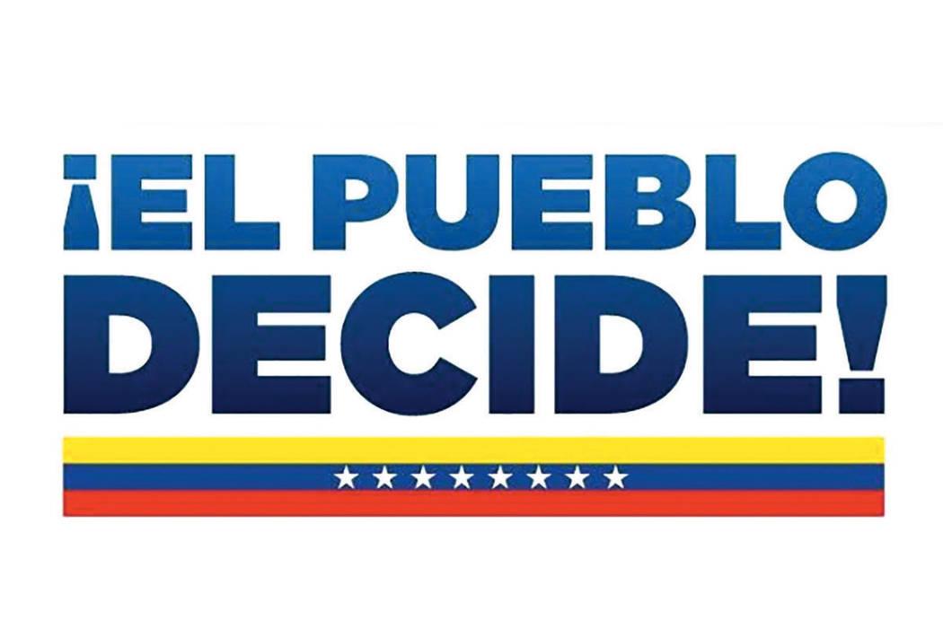 Los ciudadanos venezolanos podrán manifestar su decisión de manera voluntaria y libre sobre el destino de su país.