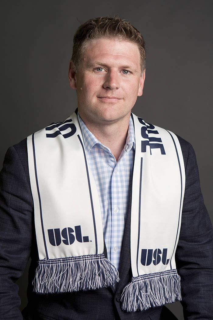 El fundador de Las Vegas Soccer LLC, Brett Lashbrook, aparece en el Las Vegas Review-Journal el lunes 17 de julio de 2017. Lashbrook está presionando fuertemente por el equipo de la Liga de Fútb ...