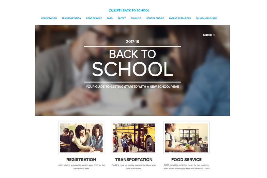 Con las clases que se reanudan el 14 de agosto, el sitio proporciona recursos útiles e información relacionada con los estudiantes que comienzan o regresan a la escuela.