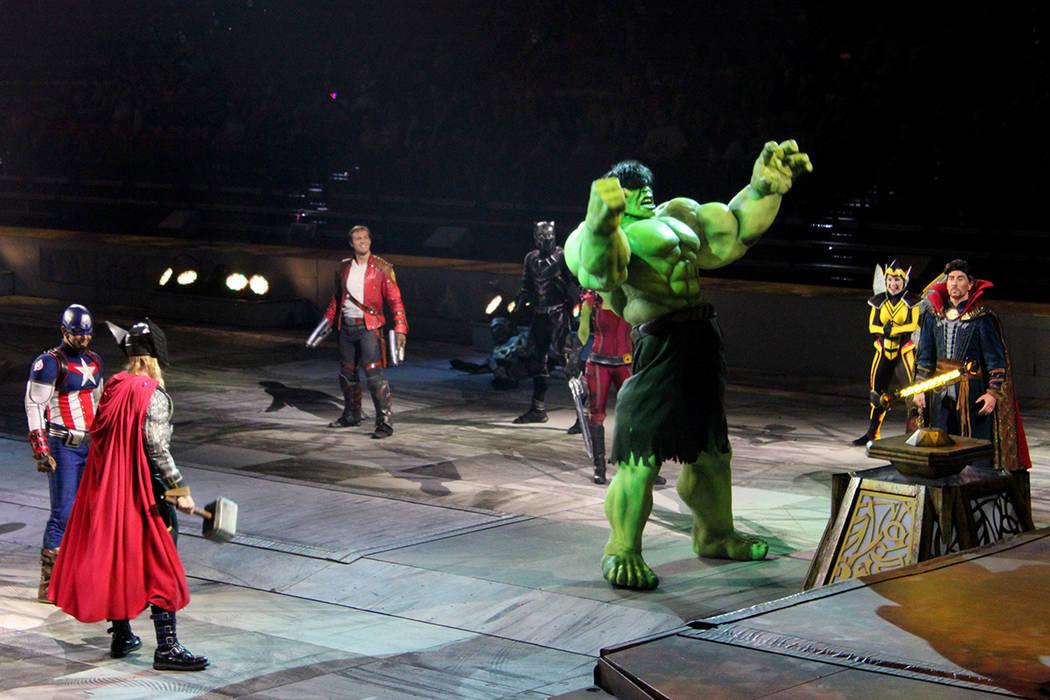 Hulk no controló su furia y apareció para aplastar a todos los malhechores. Thomas and Mack Center, jueves 27 de julio, 2017, en Las Vegas. | Foto Cristian De la Rosa/El Tiempo.