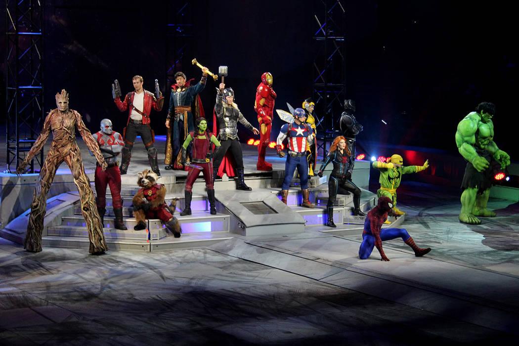 Los Vengadores y los Guardianes de la Galaxia unieron fuerzas contra Loki.Thomas and Mack Center, jueves 27 de julio, 2017, en Las Vegas. | Foto Cristian De la Rosa/El Tiempo.