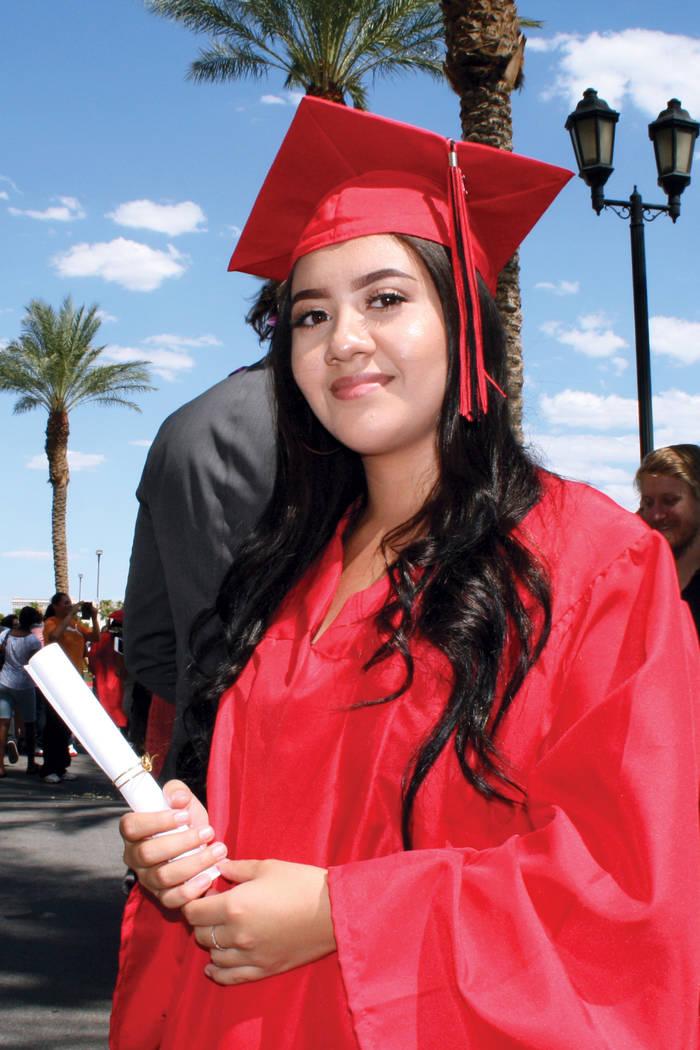 Vanessa Barbosa, de Las Vegas High School. Martes 8 de agosto en la arena Orleans. | Foto Valdemar González/ El Tiempo.