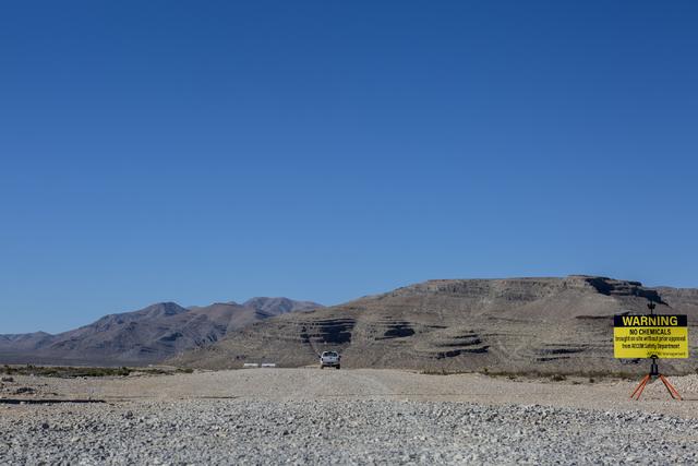 El sitio de la empresa Faraday Future en la intersección de la carretera 93 y la Apex Power Parkway, fotografiada el 10 de noviembre del 2016, en  North Las Vegas. (Foto Elizabeth Page Brumley/La ...