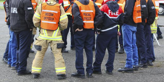Un grupo de diversas agencias de Nevada llevan a cabo ejercicios de preparacion para emergencias. (Foto Agencias).