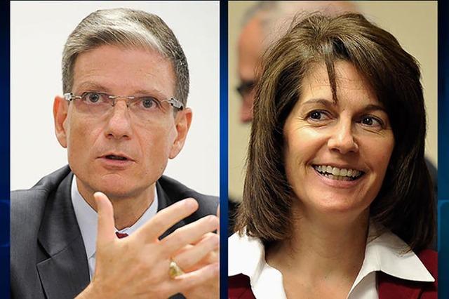 El congresista republicano, Joe Heck, y la exprocuradora de justicia de Nevada, democrata Catherine Cortez Masto, aspiran a ganar el puesto en el senado que dejará el senador Harry Reid, actual l ...