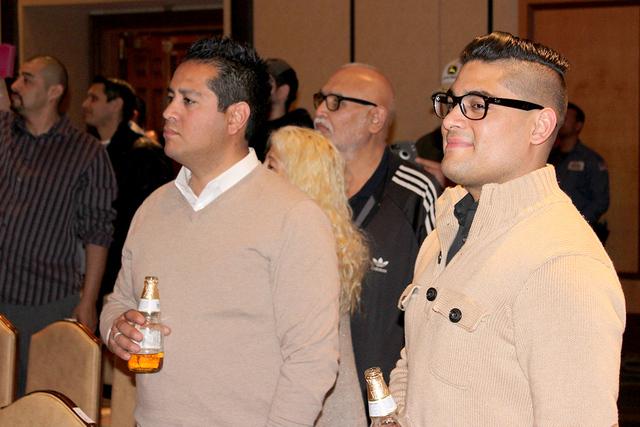 Diego Peralta, asistente, ha acudido a los cuatro shoes que Adal ha presentado en Las Vegas. Foto El Tiempo