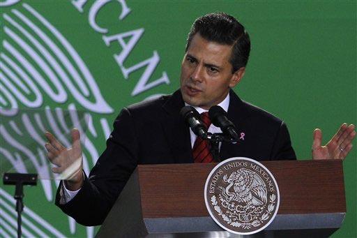 El presidente de México Enrique Peña Nieto resaltó la inversión de Walmart por mil 300 millones de dólares en el país, y la puso como ejemplo de las buenas condiciones para invertir. La foto ...