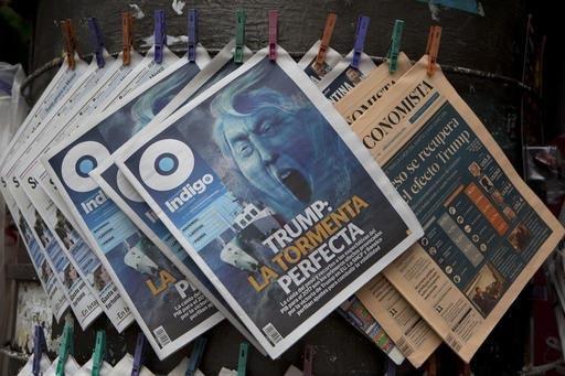 La prensa mexicana, en la Ciudad de México el 10 de noviembre del 2016, siguió destacando ampliamente la noticia del triunfo del republicano Donald Trump en Estados Unidos. En la portada del tab ...