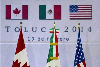 Foto de archivo, de la cumbre en México en  febrero 19 del 2014 de los tres mandatarios de las naciones de norteamérica que están en el Tratado de Libre Comercio.(AP Photo/Eduardo Verdugo).