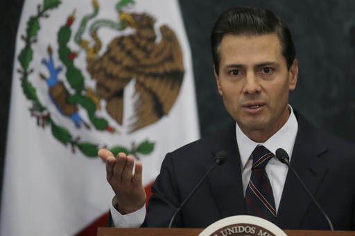 El presidente de México Enrique Peña Nieto dio un mensaje a la nación, el 25 de enero del 2017, en el que lamentó y reprobó la decisión de Estados Unidos de edificar un muro fronterizo, para ...