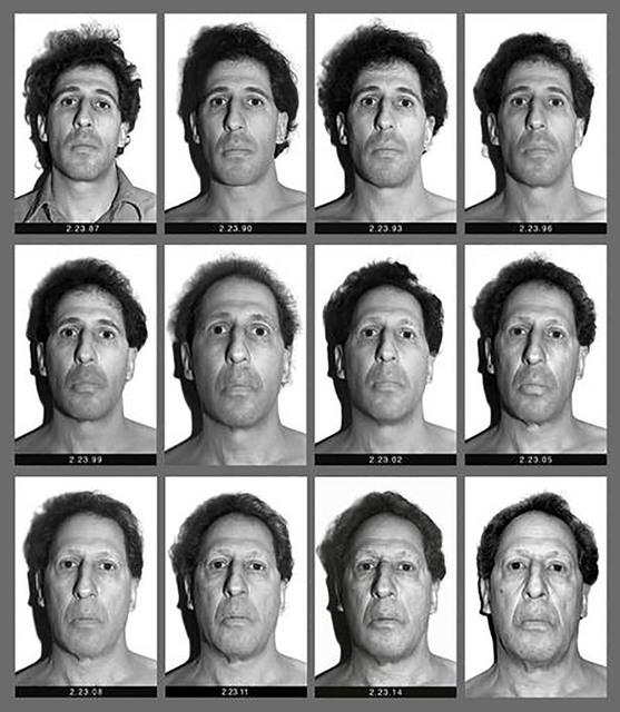 En este panel de fotos en blanco y negro se ve a Karl Baden, quien desde el 23 de febrero de 1987 se ha tomado a si mismo una foto cada día. El 23 de febrero del 2017 cumple tres décadas y a su  ...