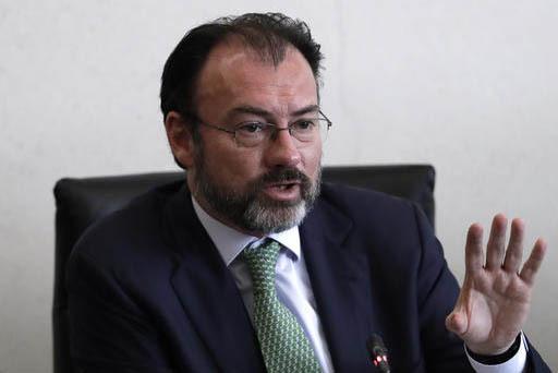 Luis Videgaray, Secretario de Relaciones Exteriores, del gobierno de México. (Archivo/AP Photo/Rebecca Blackwell).