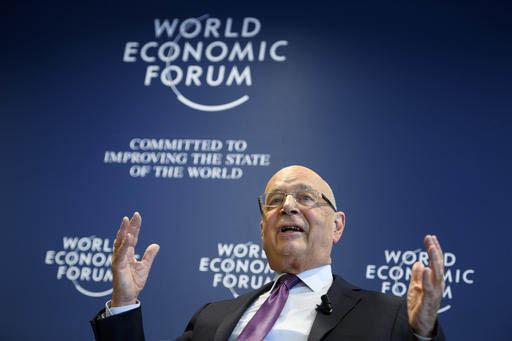 Klaus Schwab, fundador y presidente del World Economic Forum, WEF, habla en conferencia de prensa en Cologny cerca de Geneva, Switzerland, el martes 10 de enero del 2017. (Laurent Gillieron/Keysto ...