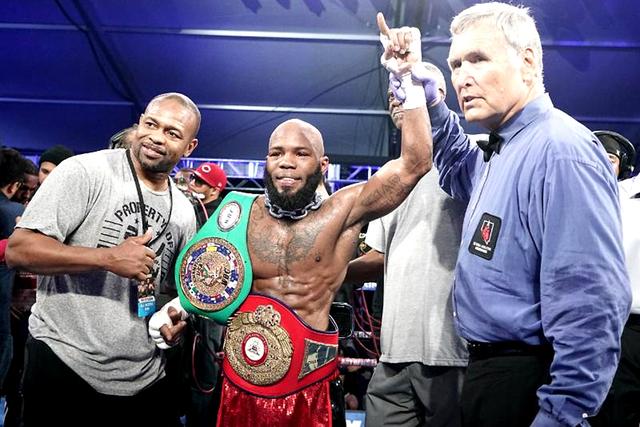 Demond Brock se proclamó campeón de peso ligero NABA en su primera pelea estelar de 'Noche de nocaut en el D'. Viernes 18 de noviembre en la explanada del hotel y casino 'the D'. Foto: M ...