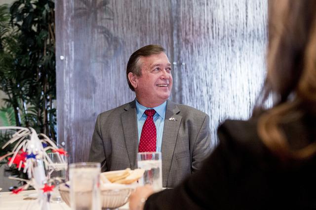 El congresista Cresent Hardy sufrió un ataque cardíaco menor; fue atendido y se recupera bien. (Foto Elizabeth Page Brumley/Las Vegas Review-Journal).