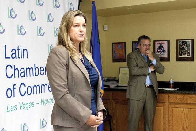 La directora de NSHS, Wendy Hawk, durante el anuncio del nuevo plantel de NSHS dentro de la LCC, el lunes 18 de julio de 2016. El Tiempo