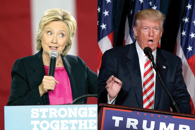 Hillary Clinton y Donald Trump. | AP