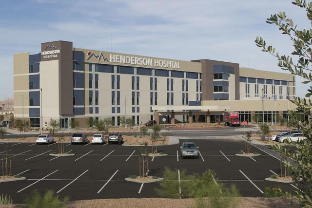 Esta foto del Hospital de Henderson, tomada el pasado 7 de octubre, fue inaugurado el 31 de octubre del 2016. (Richard Brian/Las Vegas Business Press).