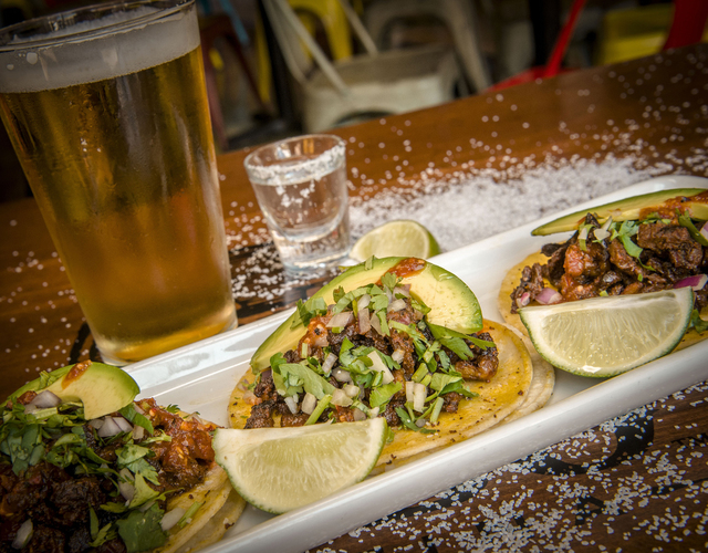 Tacos de carne asada, de Cabo Wabo. (Foto / J. Rick Martin).