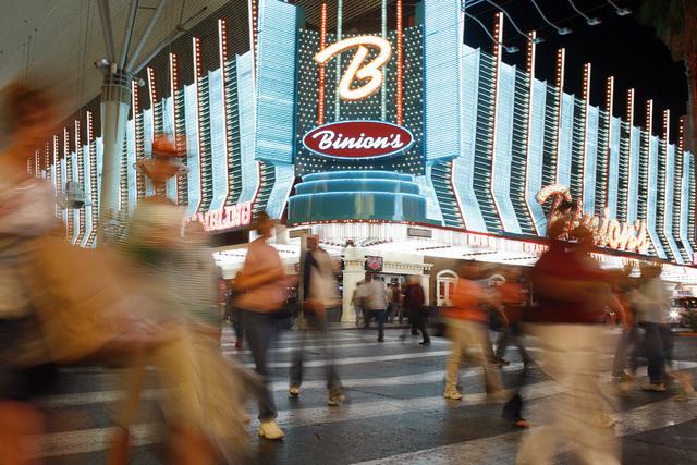El Binion's hotel y casino en el centro de Las Vegas  (Foto archivo/JOHN LOCHER/REVEW-JOURNAL).