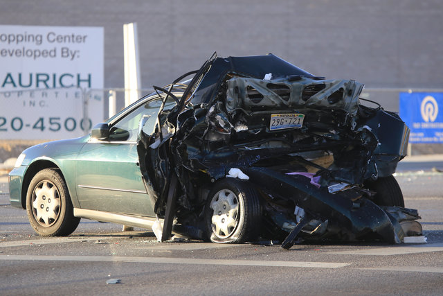 Así quedó el auto Honda Accord que conducía el joven de 16 años, Jaelan Fajardo y fue impactado por la camioneta Chevy Trailblazer donducida por David Fensch, el jueves 9 de febrero en el noro ...