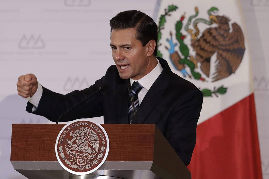 Enrique Pena Nieto, presidente de México. (AP Photo/Rebecca Blackwell)