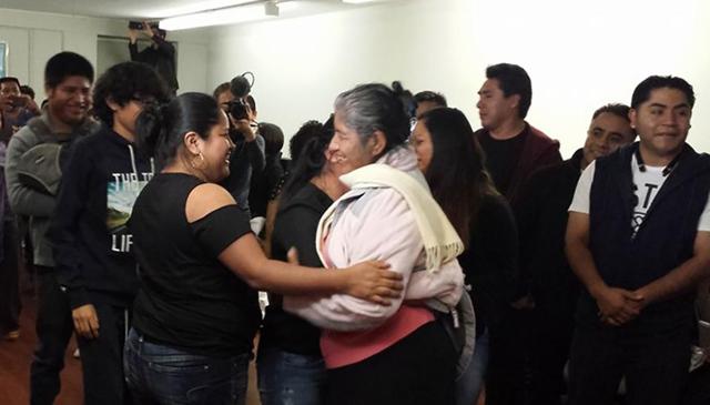 Una familia poblana se reúne en Staten Island gracias al programa Ñani Migrante. Foto Cortesía Univision 41 Nueva York/Ñani Migrante