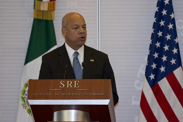 Jeh Johnson, secretario de Seguridad Nacional de los Estados Unidos, habló a la prensa luego de reunirse con el secretario de gobernación Miguel Angel Osorio Chong y otros altos funcionarios del ...