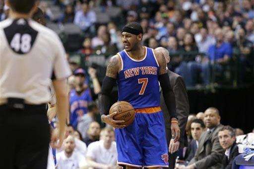 El jugador estelar de los Knicks, Carmelo Anthony, es uno de los atletas estadounidenses preocupados por la injusticia y la violencia en el país. (Foto LM Otero, archivo AP).